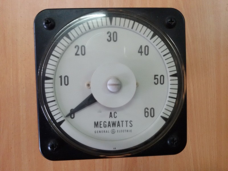 AC MEGAWATTS ANALOG METER