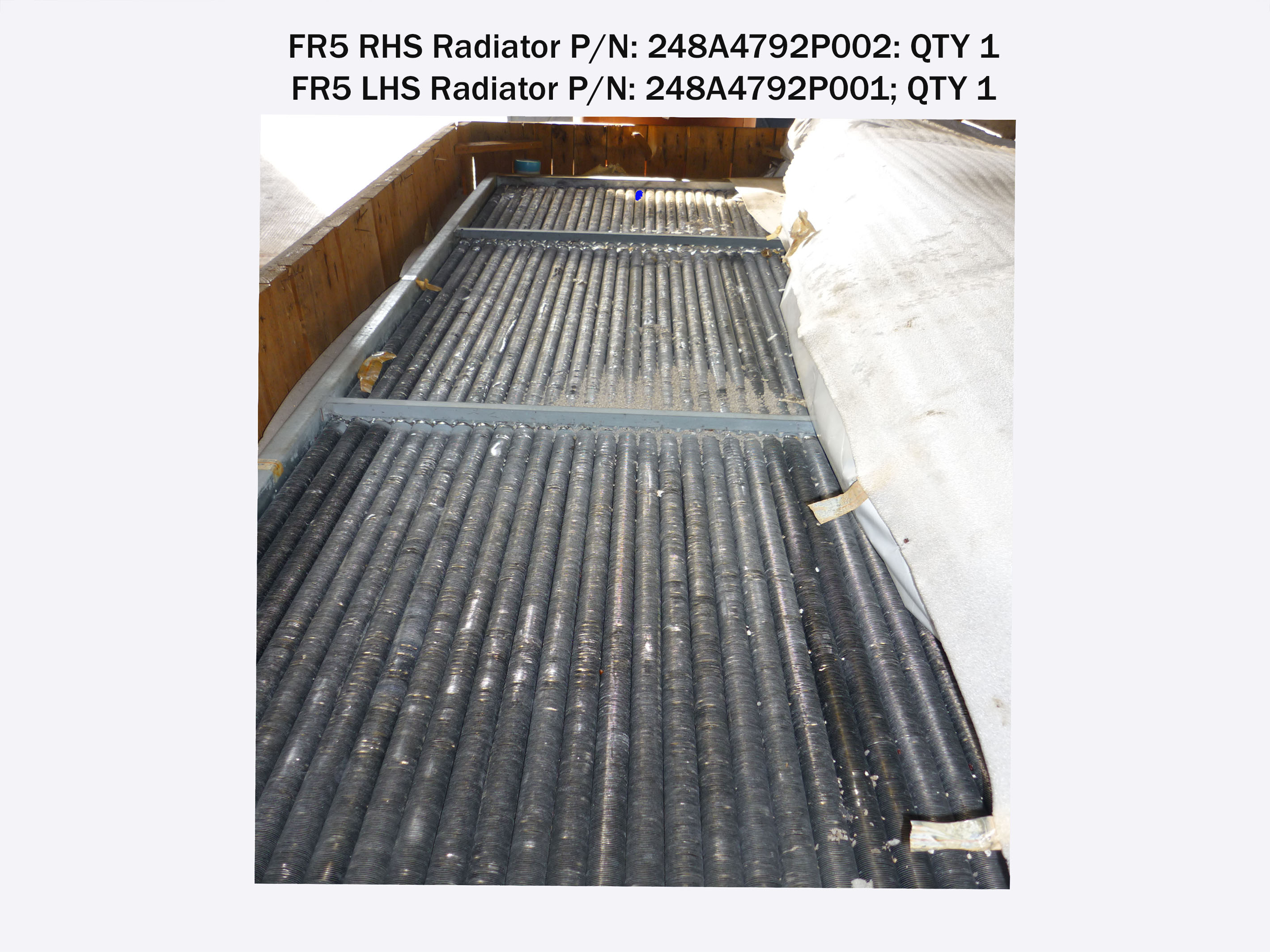 Radiator for FR5P (MS5001P) QTY 2