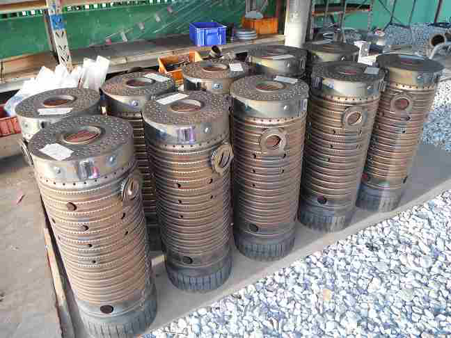 USED FR6B Combustion Liners (x3) 117E8214G001-4